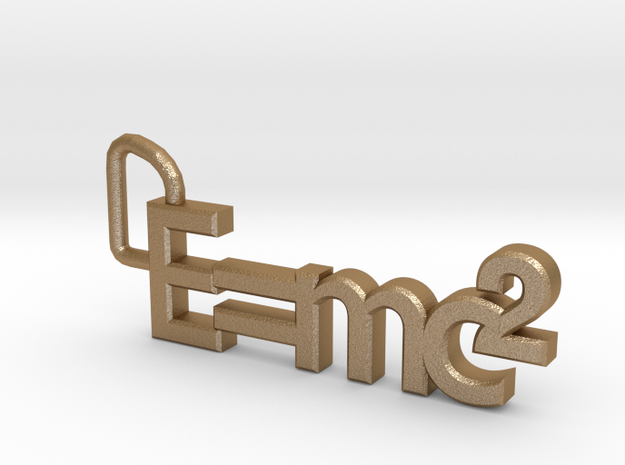 E = mc2 keyring 3d printed