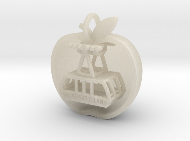Slice of Big Apple with Roosevelt Island Tram 3d printed