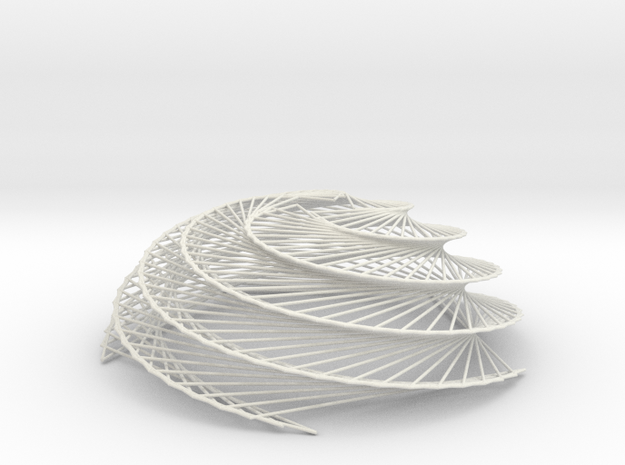 Phyllotaxis Sunflower n200 inc4.2 h80 0.75mm dia 3d printed