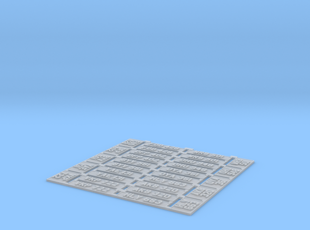 1:43 No. Plates Set of 10 3d printed