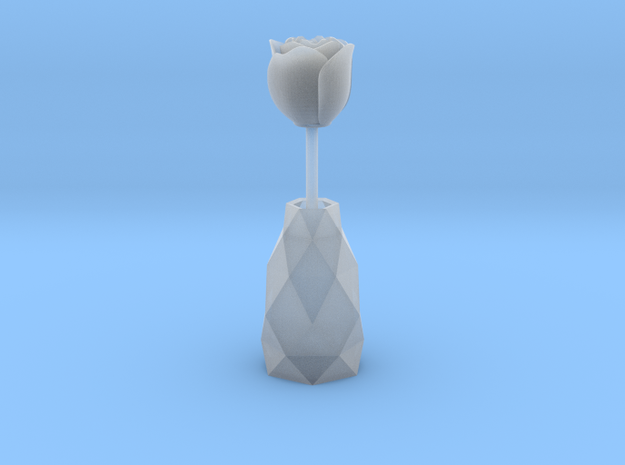 Rose In A Vase smaller 3d printed