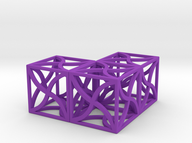 Twirl cubed puzzle part #5 3d printed