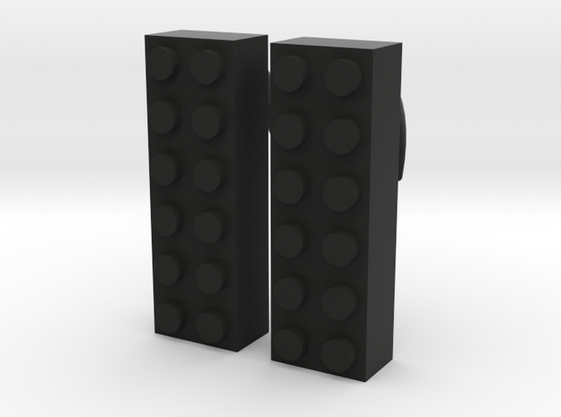 2x6 Brick Earring 2g 3d printed