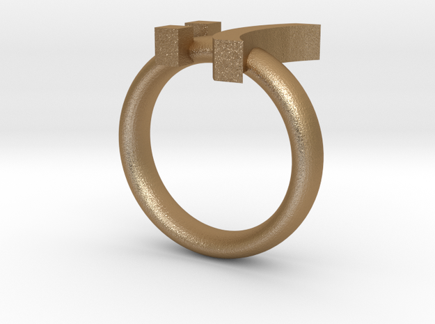 Sad Emoticon Ring version 2 :( 3d printed