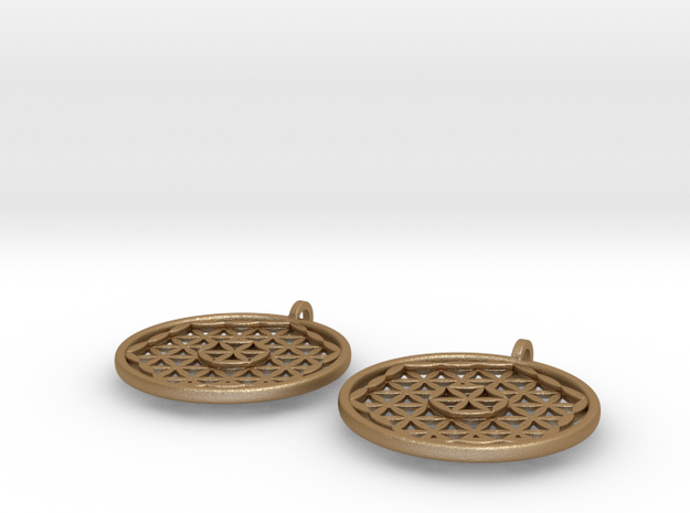 Silver Flower of Life Earrings 3d printed