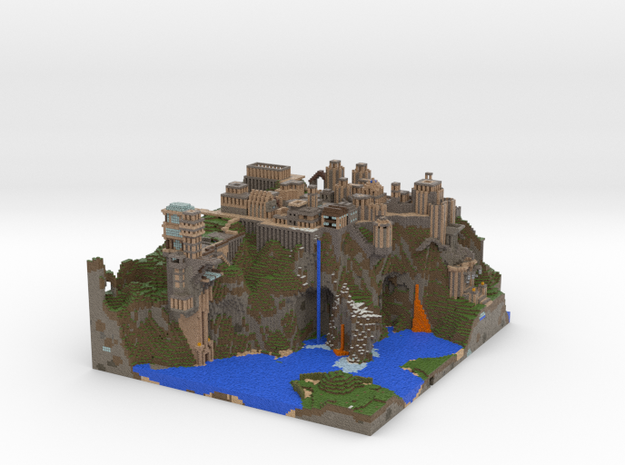 Mountain City from Squid Server 3d printed
