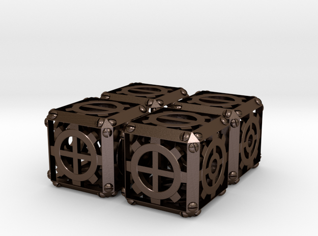 Steampunk d6 Fudge 4d6 Set 3d printed