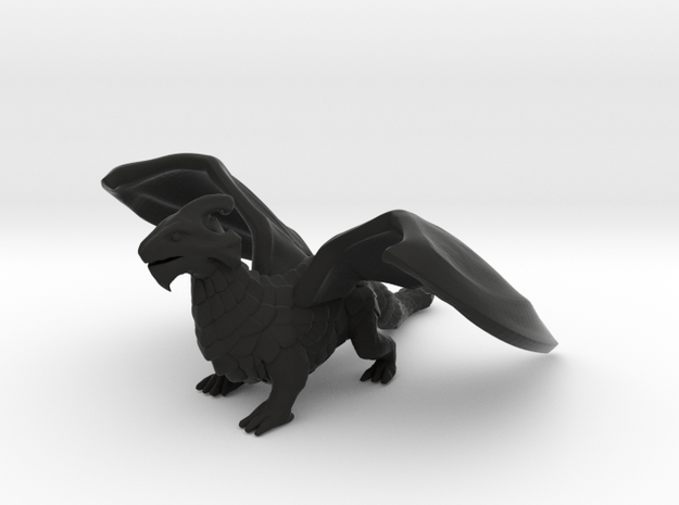 Inquisitive Dragon 3d printed