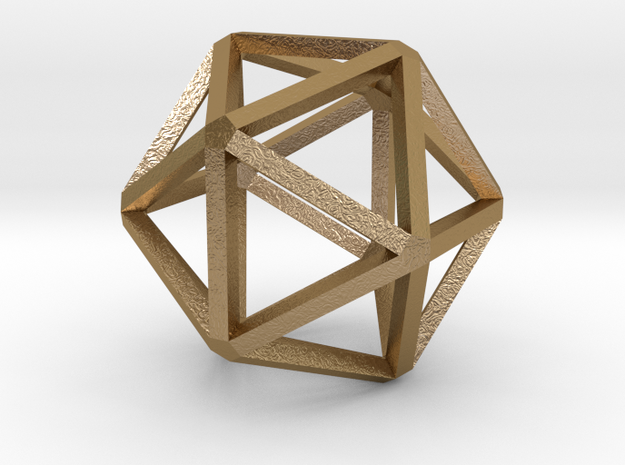 Icosahedron Thinner 25mm 3d printed