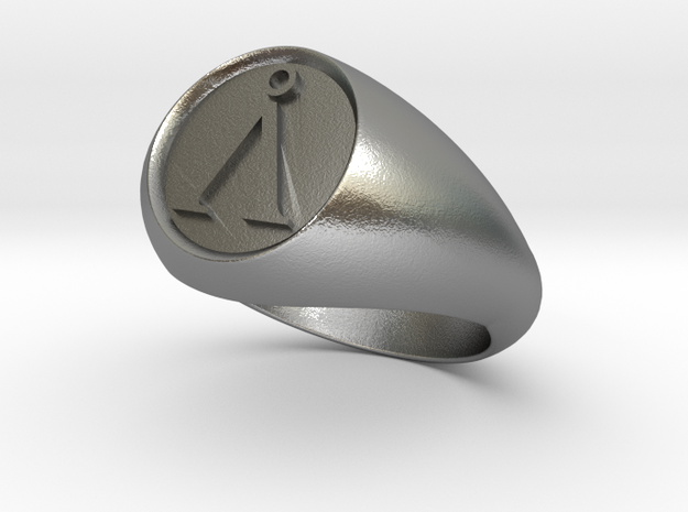 Stargate Earth symbol signet ring s 11 (20.93 mm) 3d printed