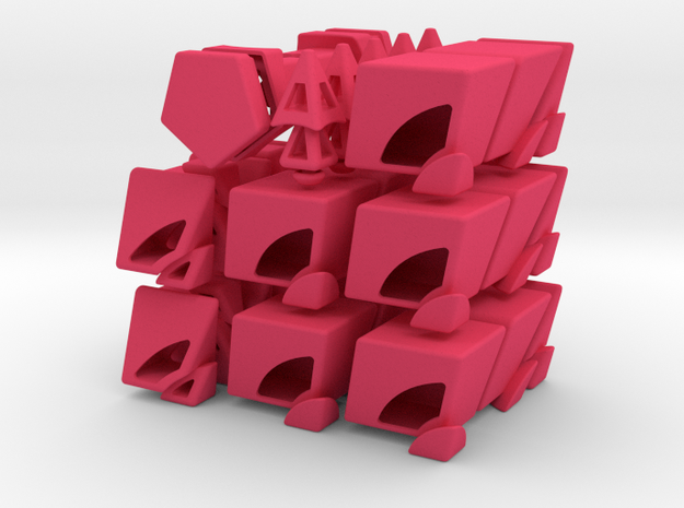 Fractured Prism Puzzle 3d printed
