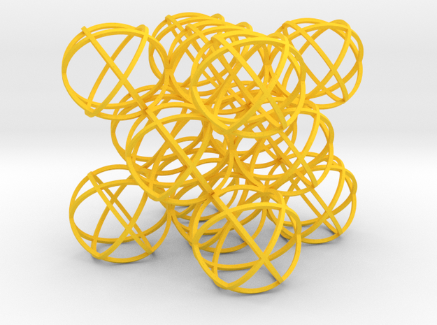 Packed Spheres Cube 3d printed