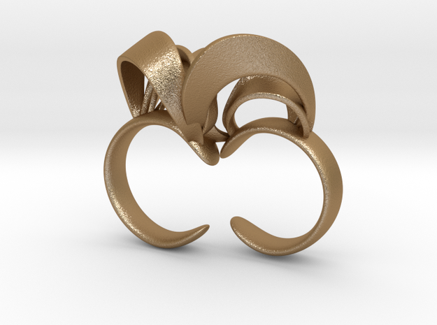 Ribbon Double Ring 8/9 3d printed