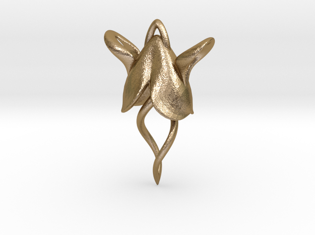 Wingnut Earring 3d printed