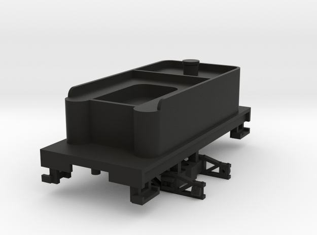 H0n30 Tender with 2 trucks (type 2A) 3d printed