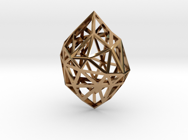 Pendant Diamond Rough 3d printed
