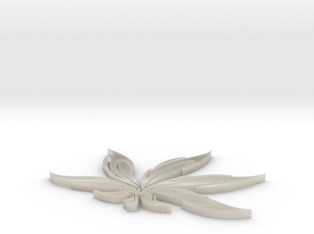 Hemp Leaf 3d printed
