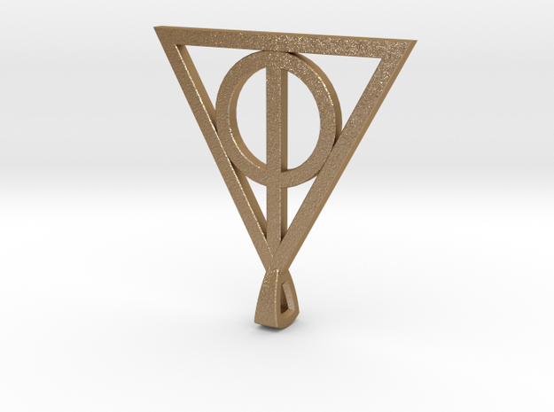 Deathly Hallows Necklace 3d printed
