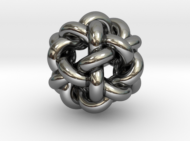 Sterling Silver Nibbly Nobbly 3d printed