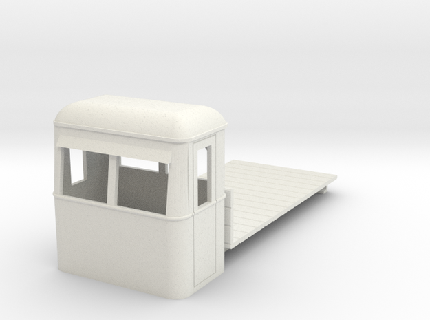 O9/On18 rail bus flatbed freight 3d printed