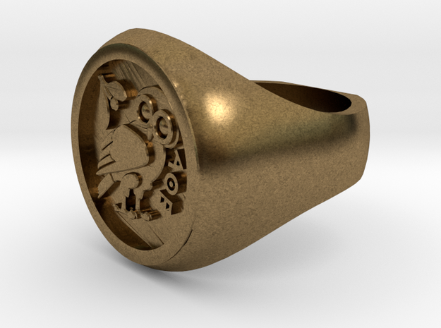 Owl of Wisdom ring 3d printed