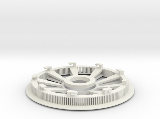 Belt disk right side 180Z HTD 3M 12mm 36 spokes 3d printed