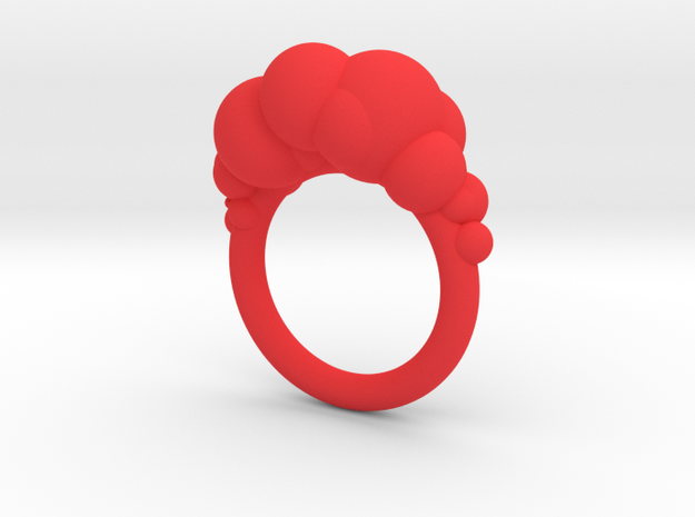 Cloud Ring size 6 3d printed