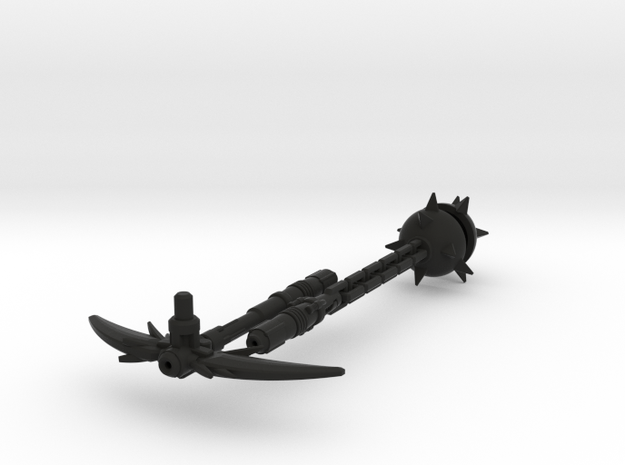 Legends Megatron Axe and Flail (2013) 3d printed