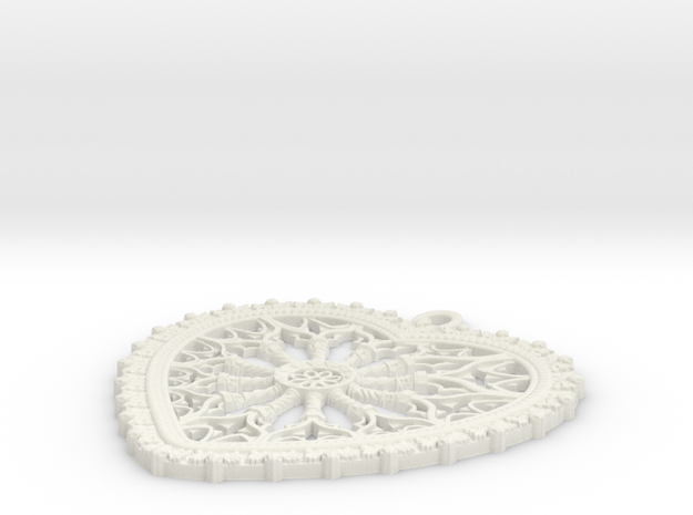 rose window heart 3d printed