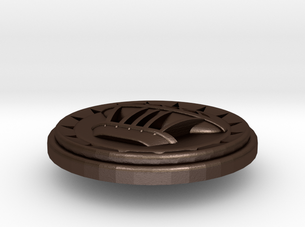 BlakOpal Airship Button 3d printed