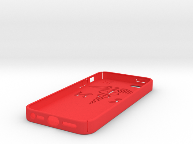 iPhone 5 case with the RN logo 3d printed