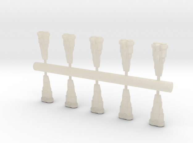 10 Human Alliance Fighters 3d printed