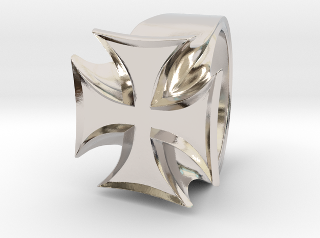 Iron Cross Ring 3d printed