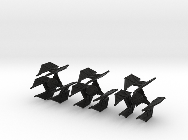 Tigh Defensive Fighter - 1/270 game - 3 Pack 3d printed