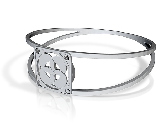 Elegant Bangle - Four Petals Bound 3d printed