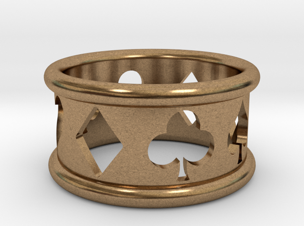 Card Suit Ring 3d printed