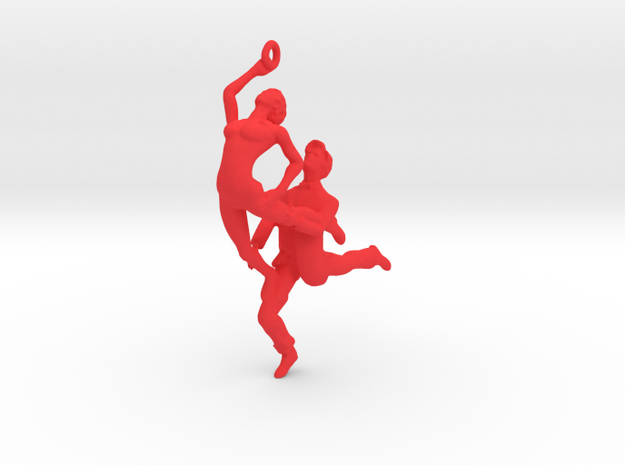 Dance LOVE Pendant-Earring 3d printed Salsa necklace
