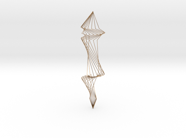 Spiral Silver Wire Earings 3d printed