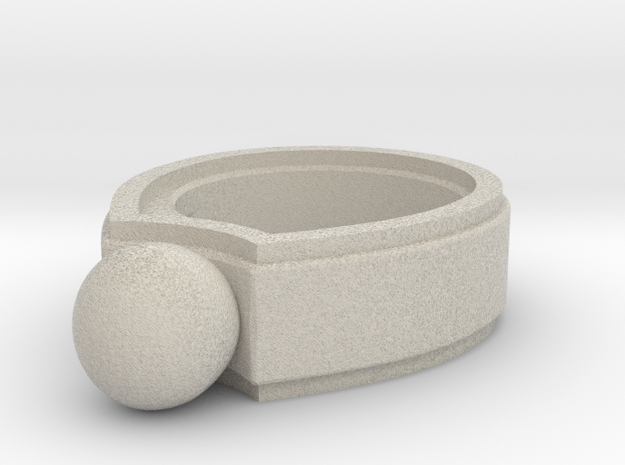 Marble Ring 3d printed