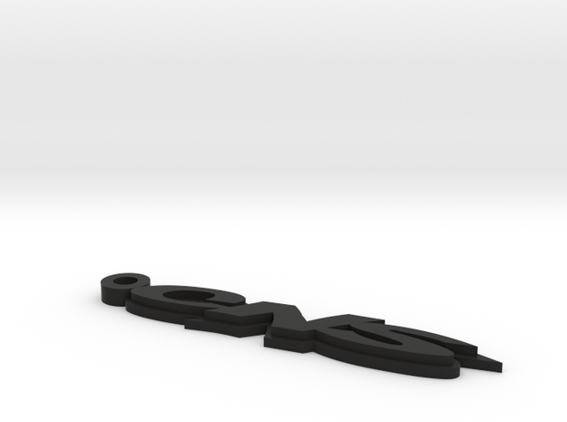 CNS Key Chain 66mm 2.6Inch Long 3mm Thick 3d printed