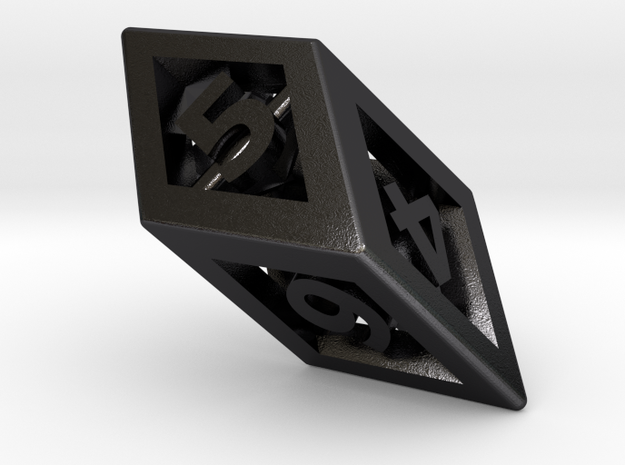 Crystal Dice Pendant 3d printed