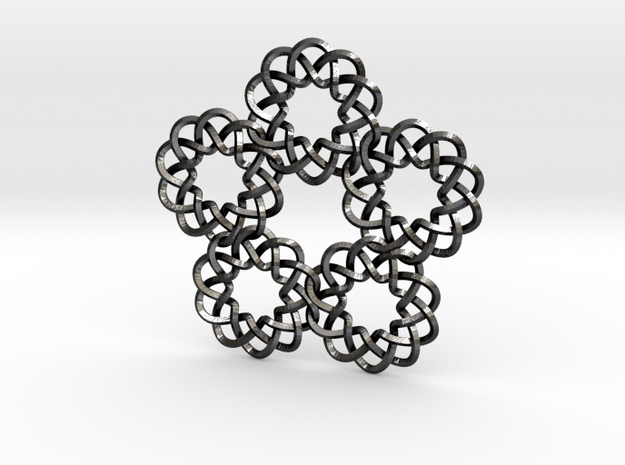 Braided Orbit pendant 3d printed