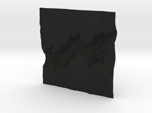 3'' Yosemite Valley Terrain Model, California, USA 3d printed