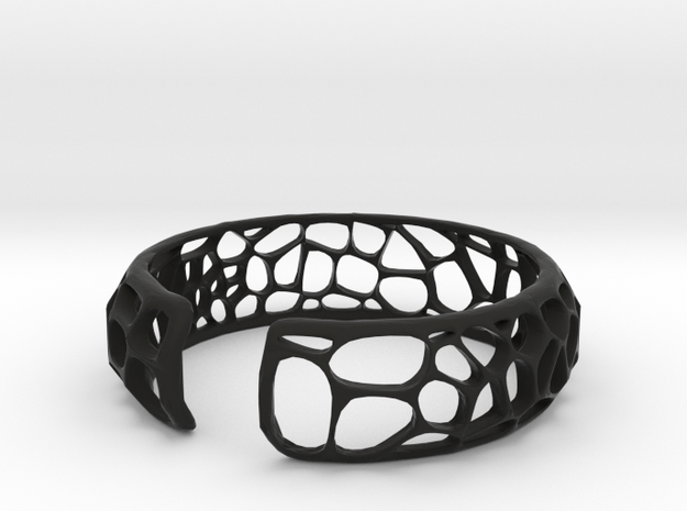 Coral Cuff 3d printed Bright and vibrant colors make up the beautiful Voronoi patterns.