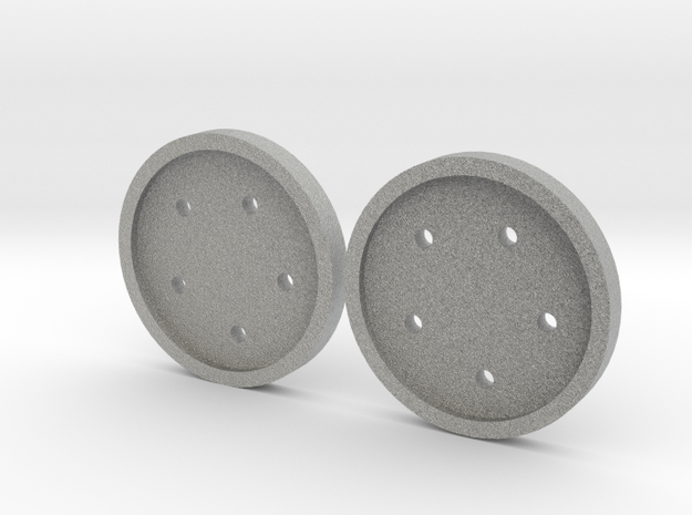 "1"" five-holed buttons (two) 3d printed"