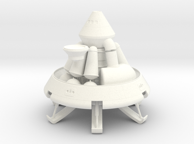 1/72 MARS EXCURSION MODULE W/ ASCENT STAGE 3d printed