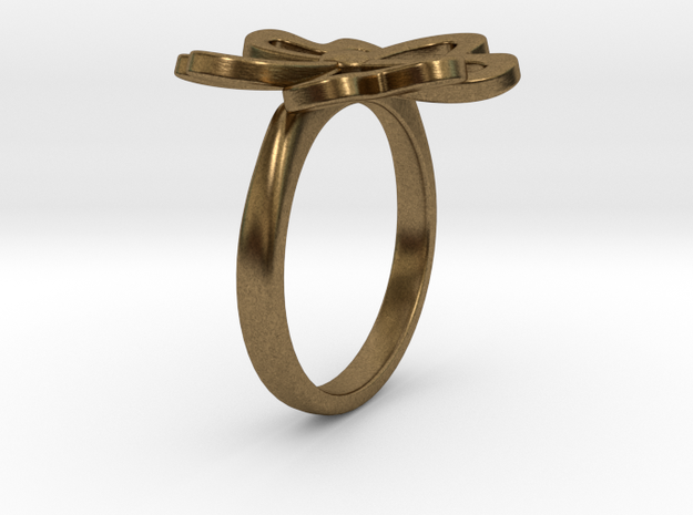 4-Heartleaf-clover-Ring US-SIZE6.5 (JP-SIZE#12) 3d printed