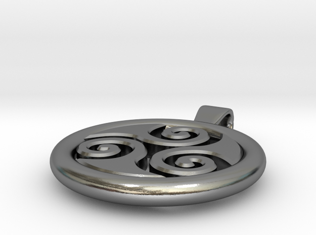 Big Triskell Negative Hole Pendant 3d printed