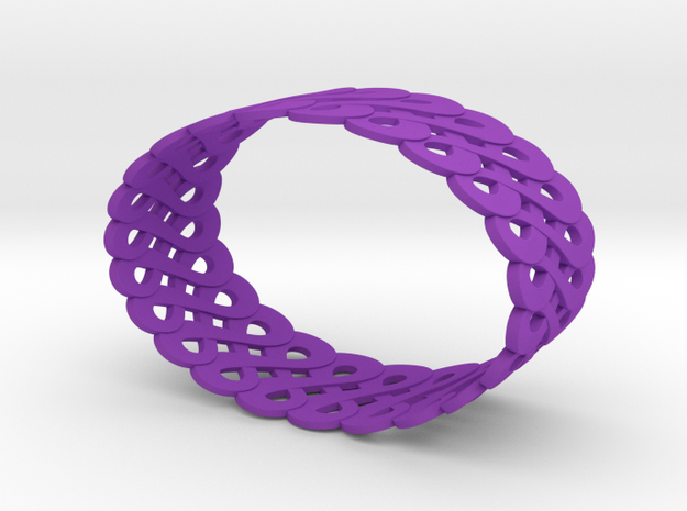 Infinite like loops - Bracelet 3d printed