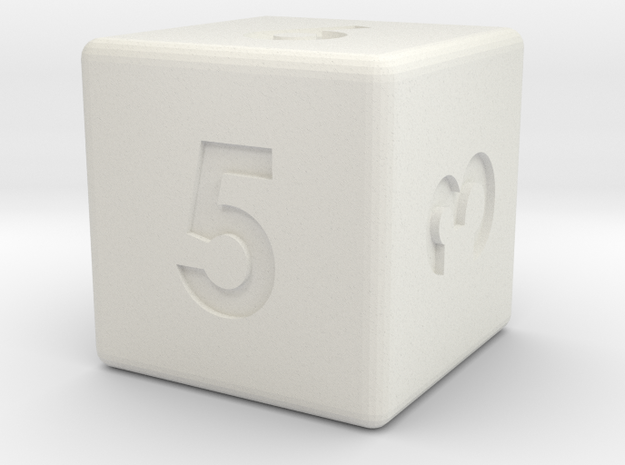 6-sided die (d6) 3d printed